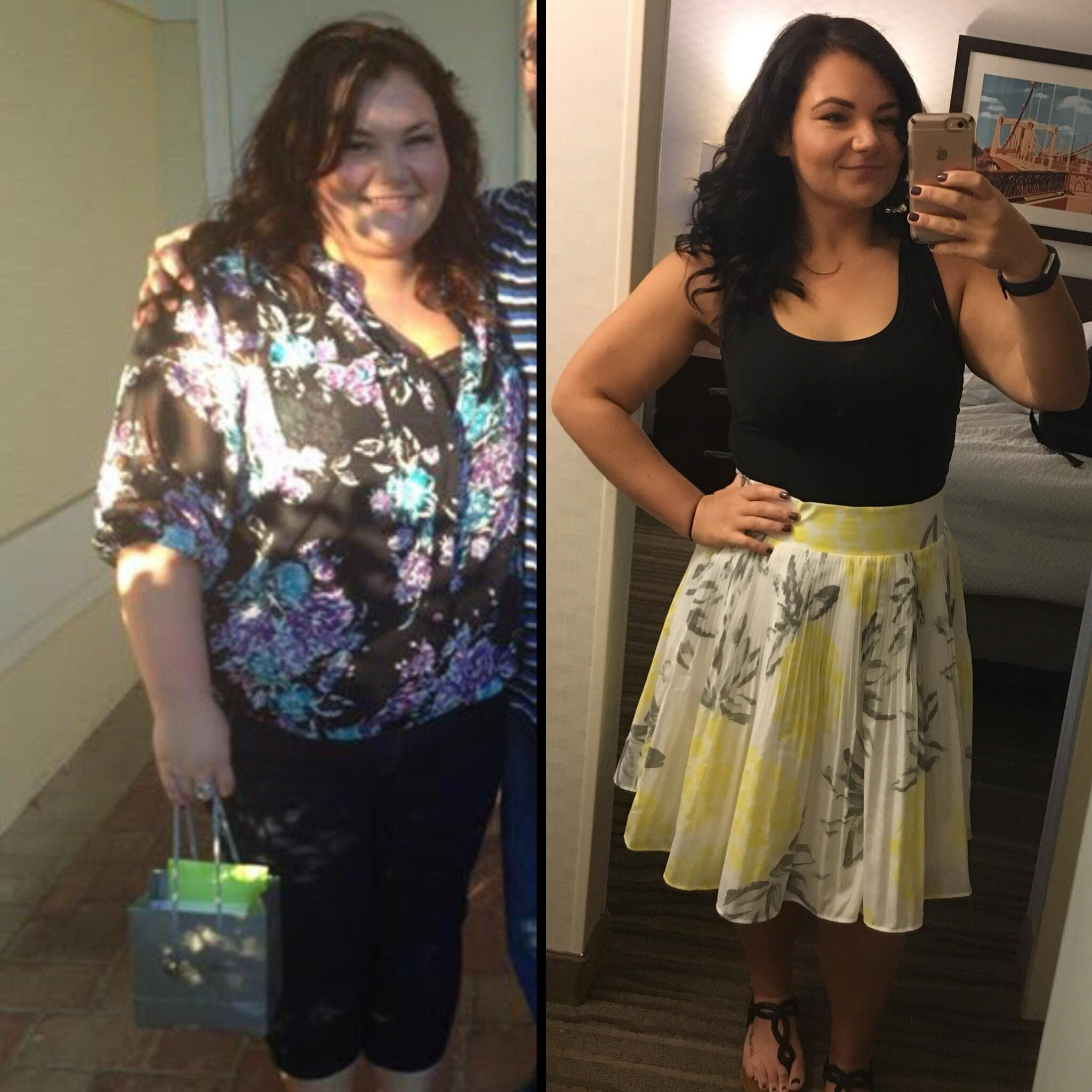 90 lbs Weight Loss Before and After 5 foot 2 Female 260 lbs to 170 lbs
