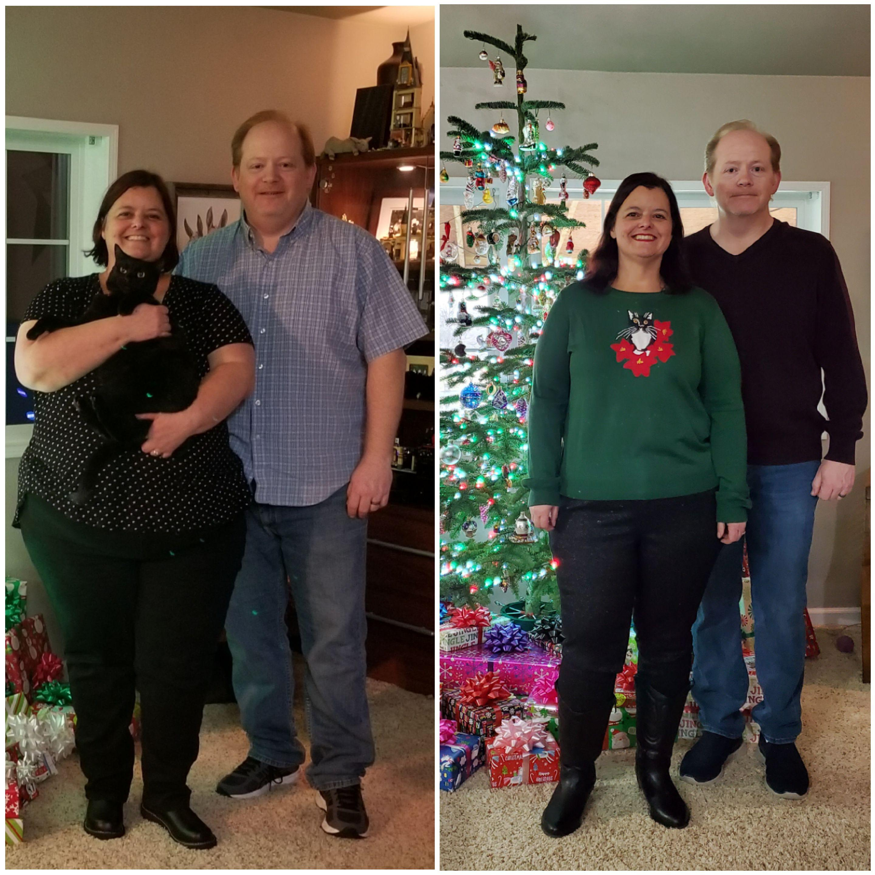 118 lbs Weight Loss Before and After 5'3 Female 316 lbs to 198 lbs