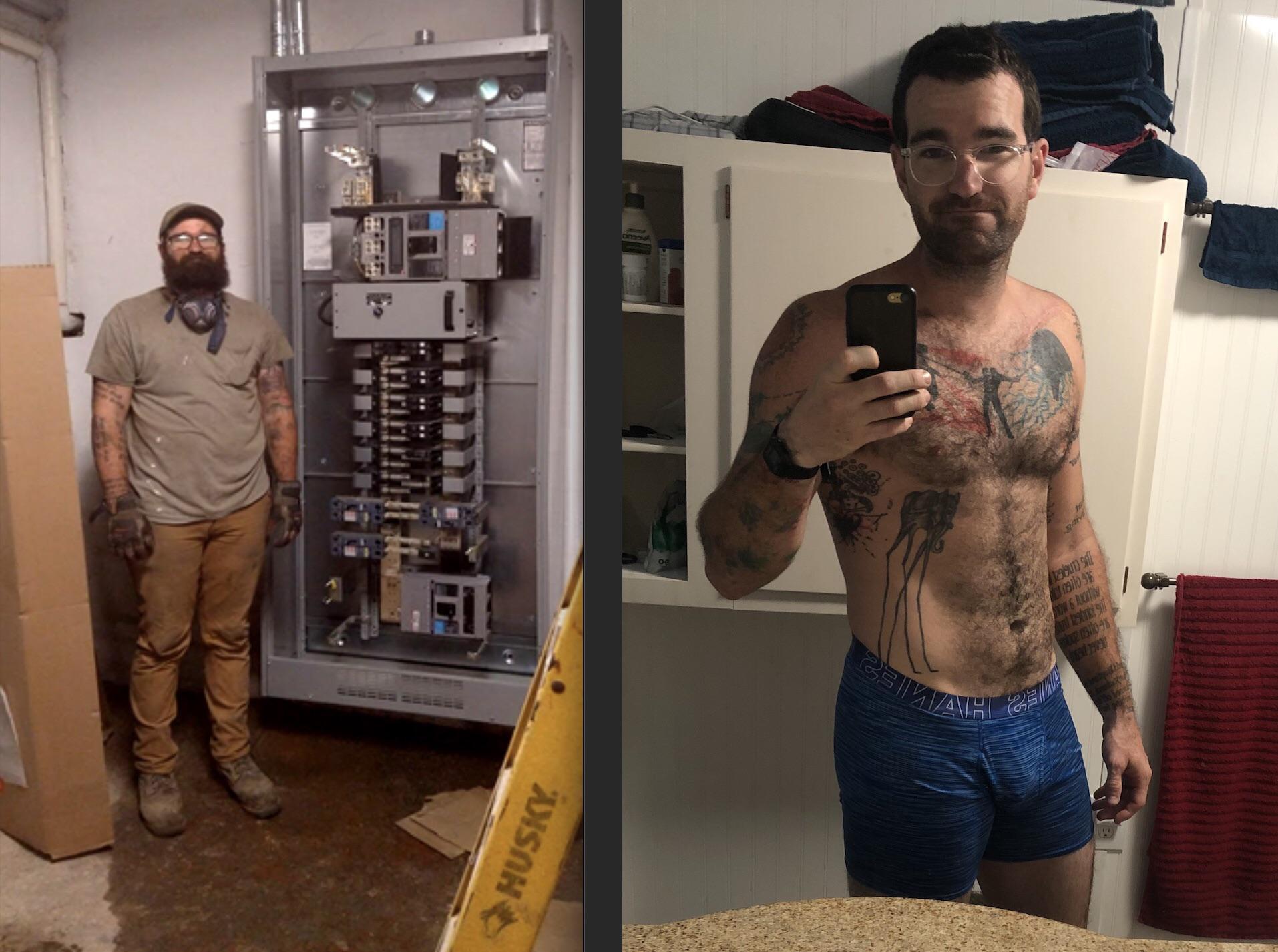 6'4 Male Progress Pics of 60 lbs Fat Loss 255 lbs to 195 lbs