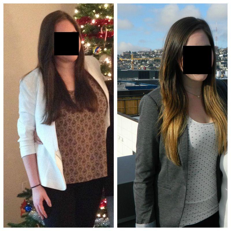 Progress Pics of 47 lbs Weight Loss 5 foot 9 Female 182 lbs to 135 lbs
