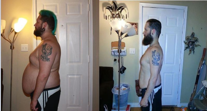 5'4 Male Progress Pics of 85 lbs Fat Loss 230 lbs to 145 lbs