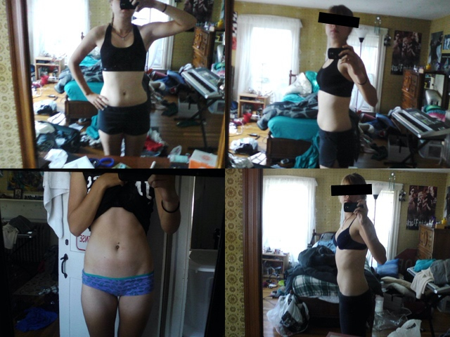 Before and After 10 lbs Weight Loss 5 foot 8 Female 138 lbs to 128 lbs