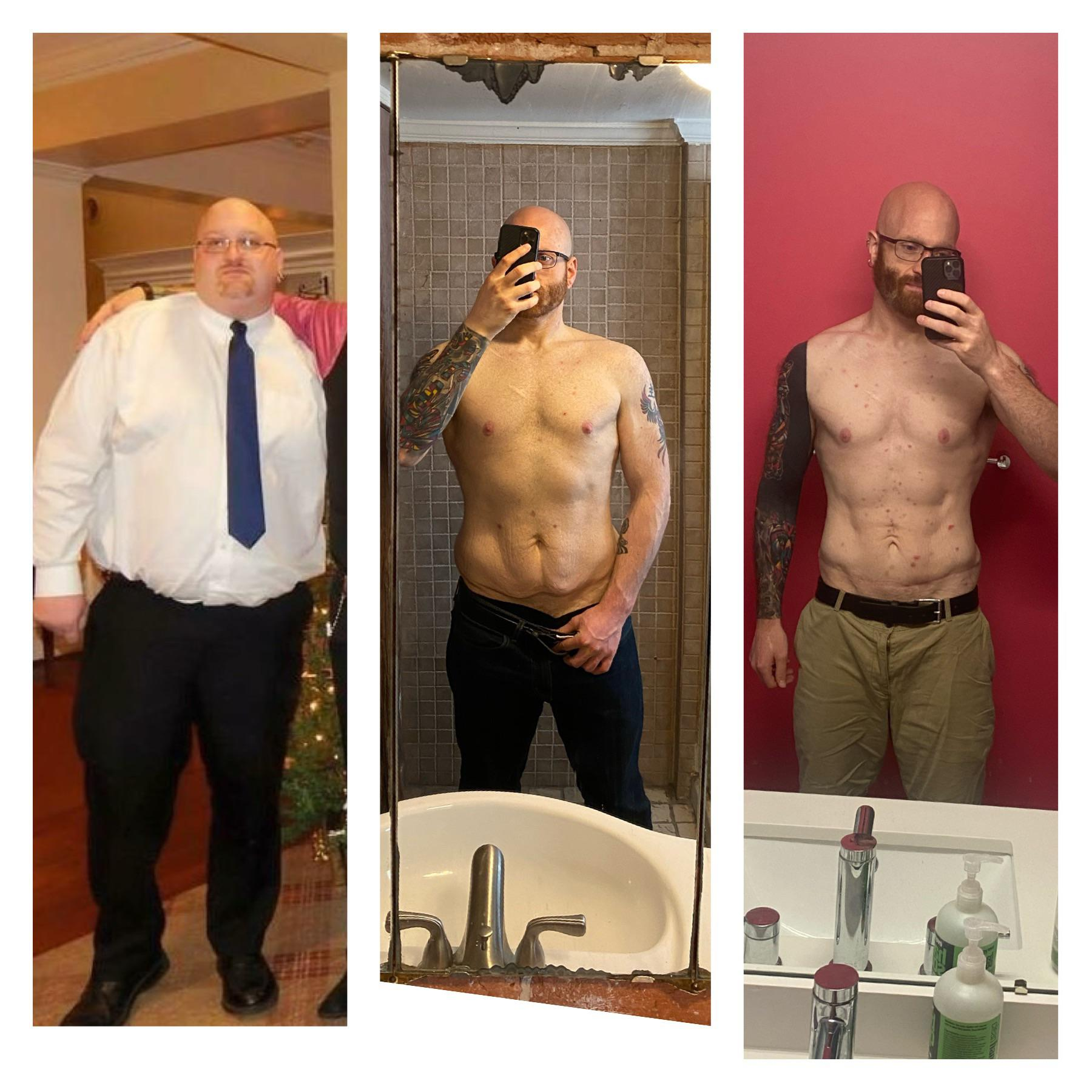 6 foot Male 164 lbs Fat Loss 356 lbs to 192 lbs