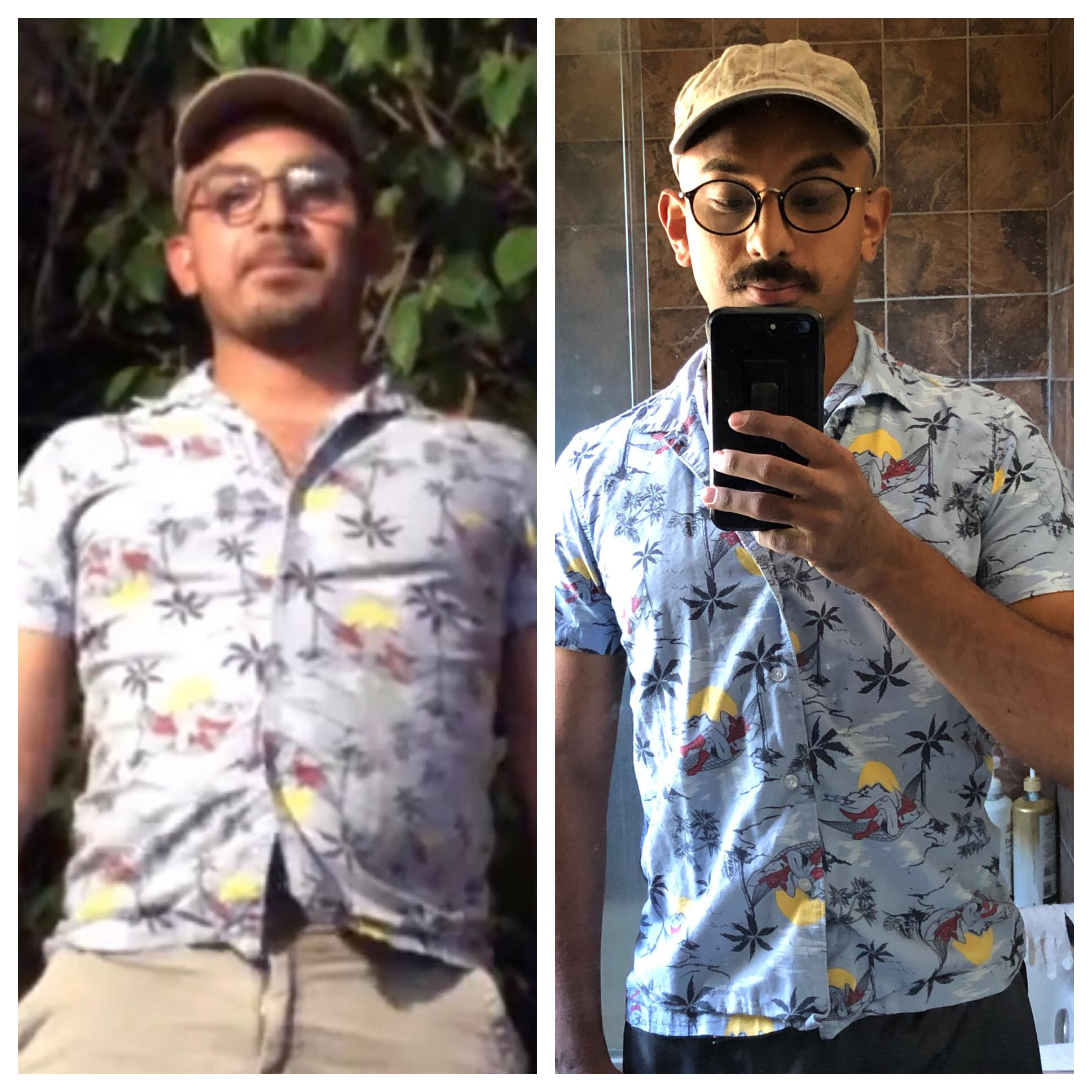 5'8 Male 25 lbs Weight Loss Before and After 186 lbs to 161 lbs