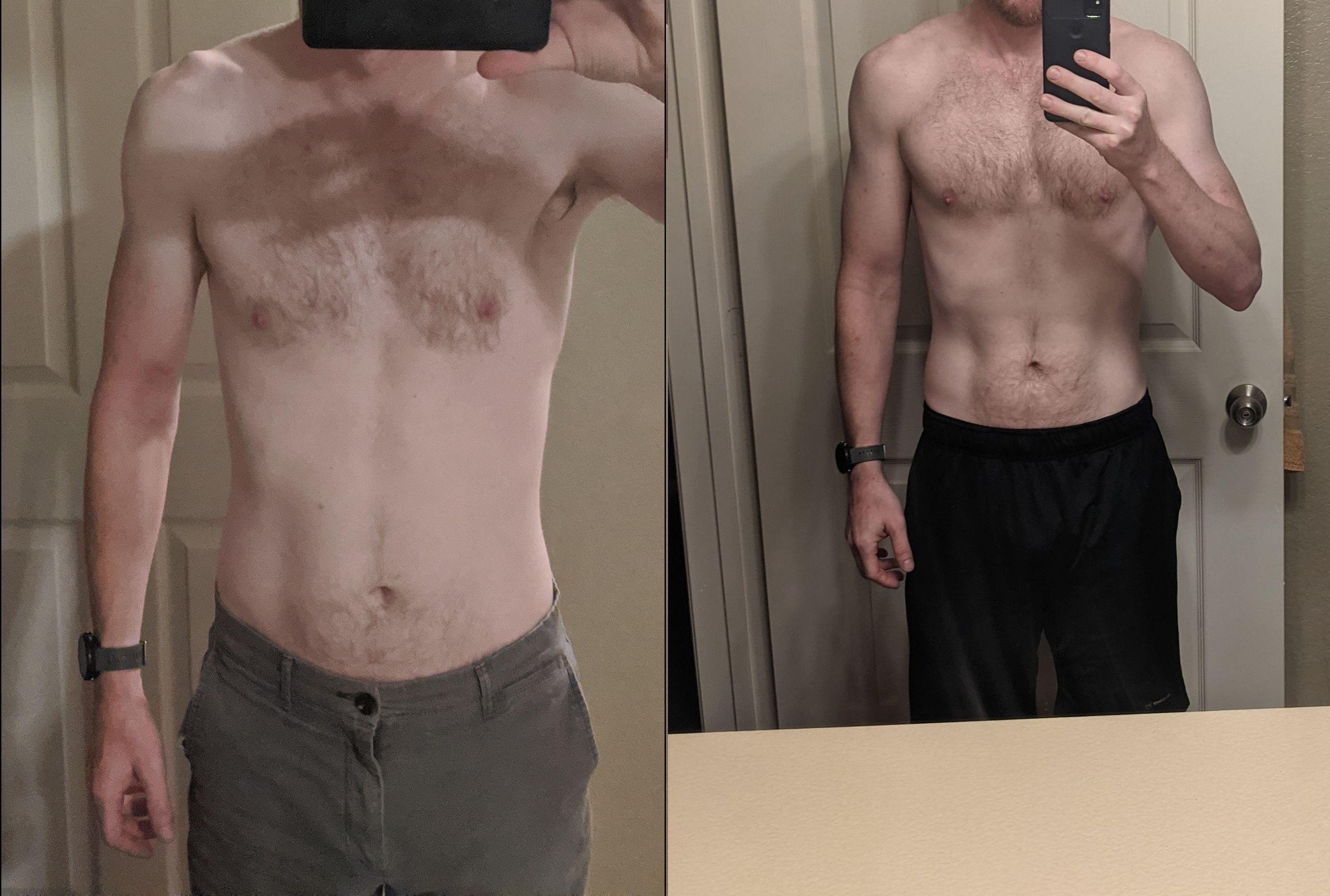 5 feet 11 Male 7 lbs Weight Gain Before and After 155 lbs to 162 lbs