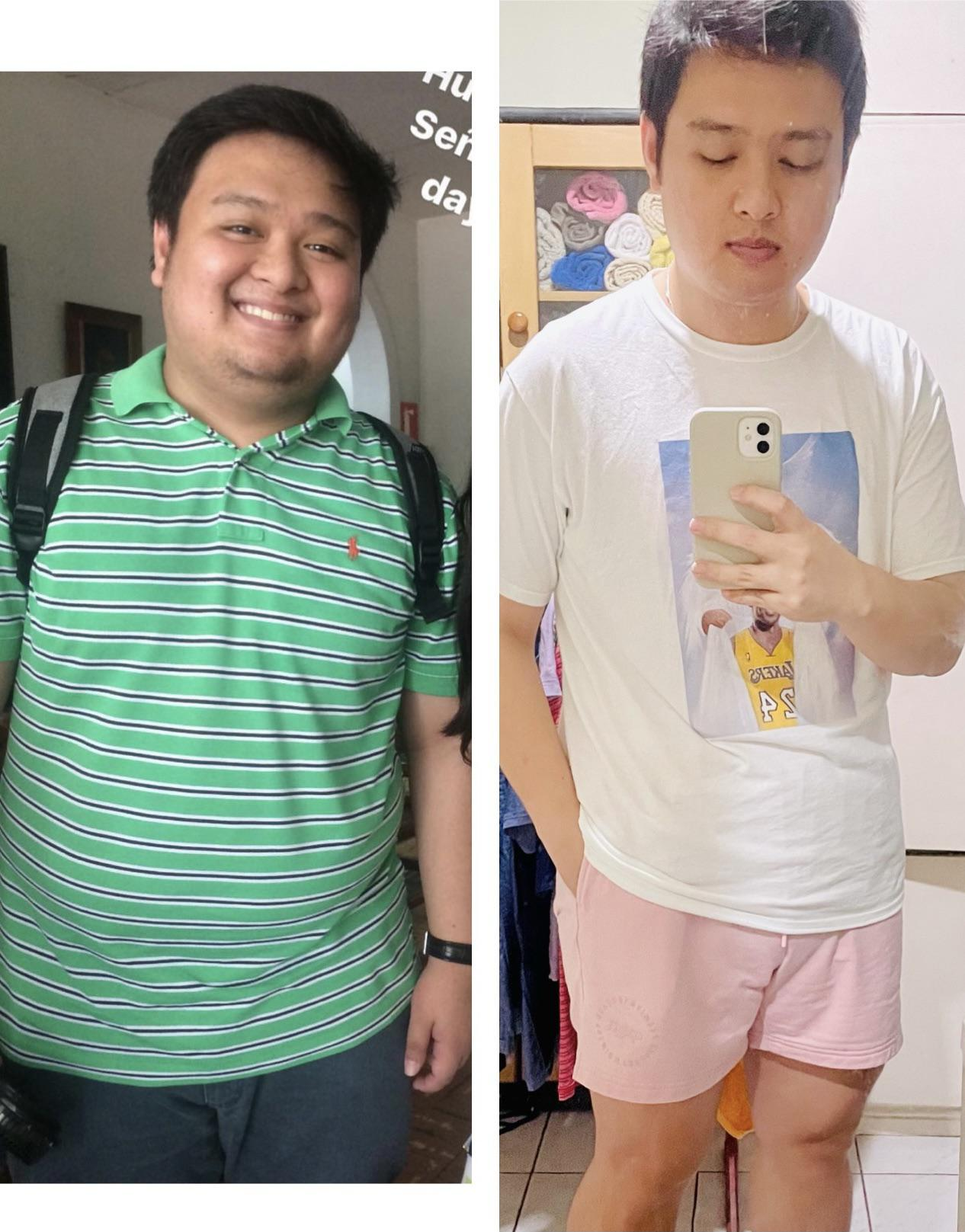 5 foot 5 Male 50 lbs Weight Loss Before and After 225 lbs to 175 lbs