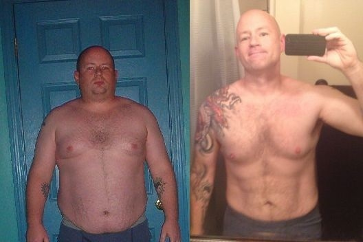 Before and After 118 lbs Fat Loss 5'9 Male 336 lbs to 218 lbs