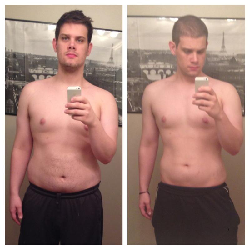40 lbs Weight Loss 6 foot Male 250 lbs to 210 lbs
