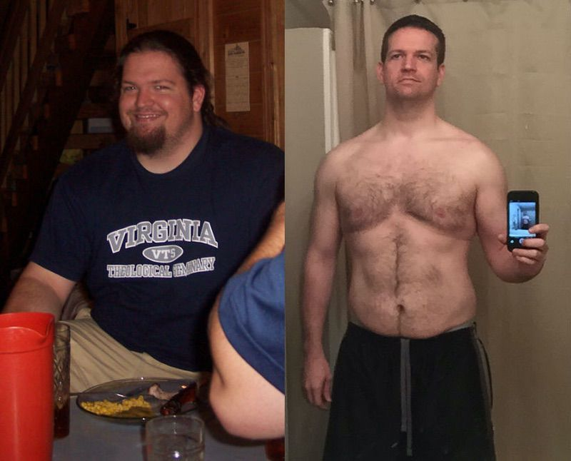 110 lbs Weight Loss Before and After 6 foot Male 315 lbs to 205 lbs