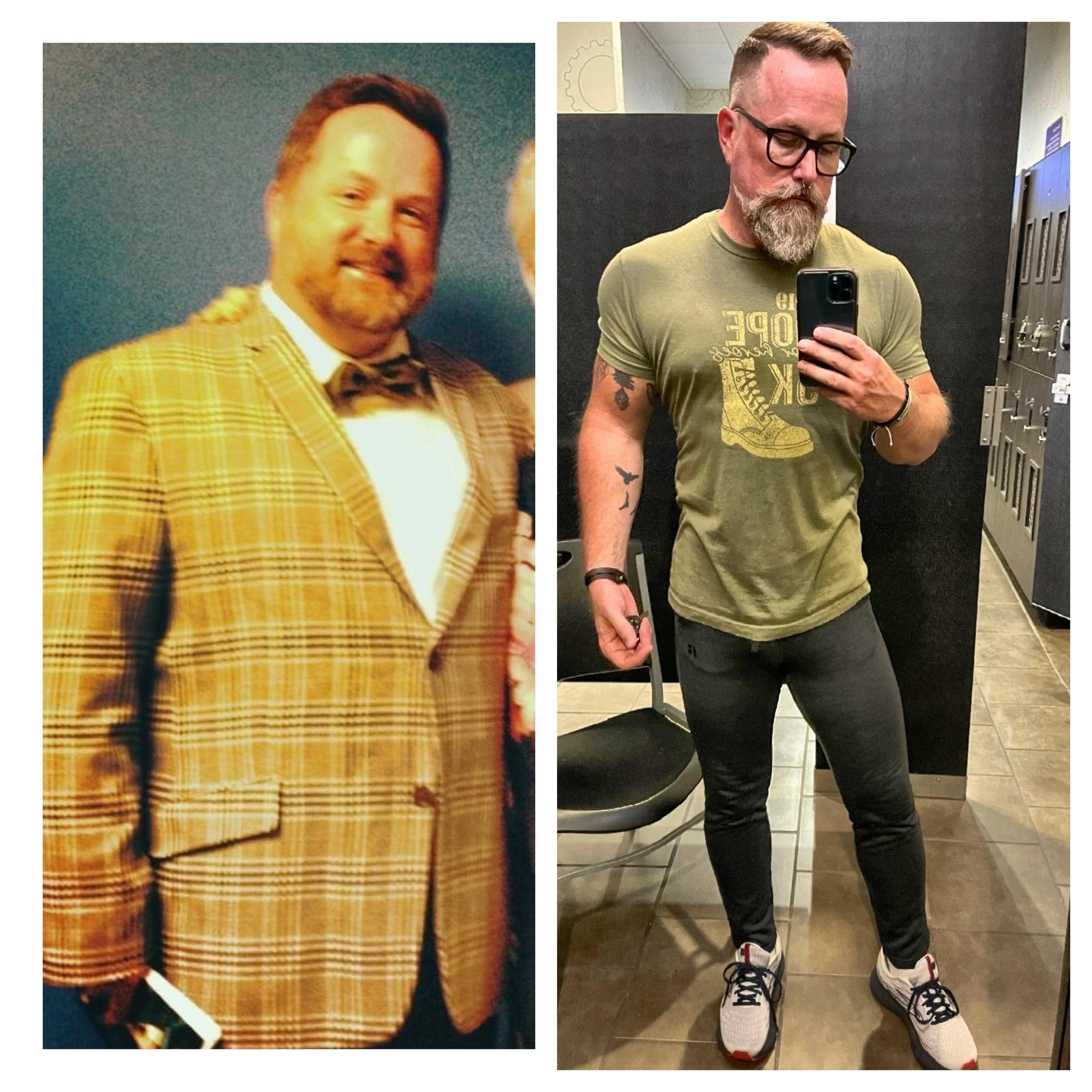 5 foot 8 Male 75 lbs Fat Loss Before and After 270 lbs to 195 lbs