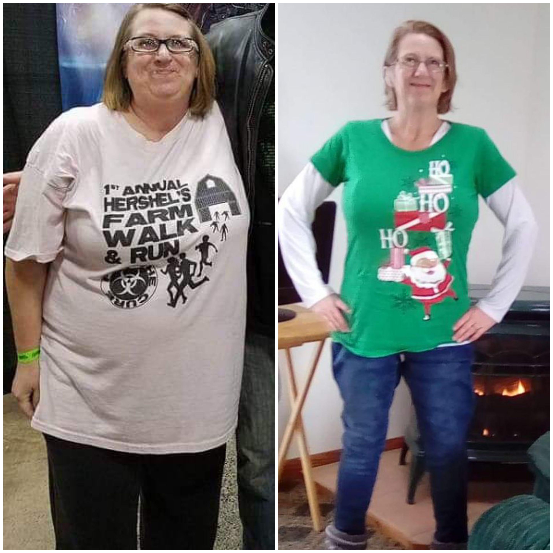4 feet 11 Female Progress Pics of 58 lbs Fat Loss 175 lbs to 117 lbs