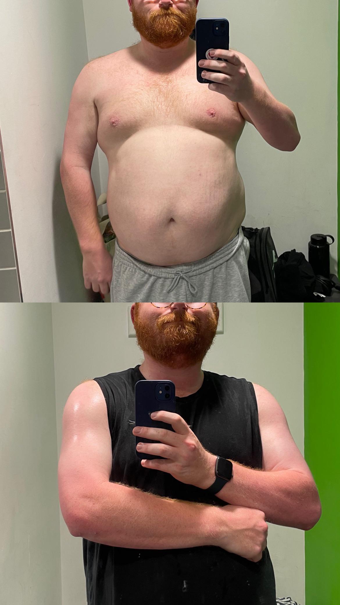 20 lbs Fat Loss 5'11 Male 280 lbs to 260 lbs