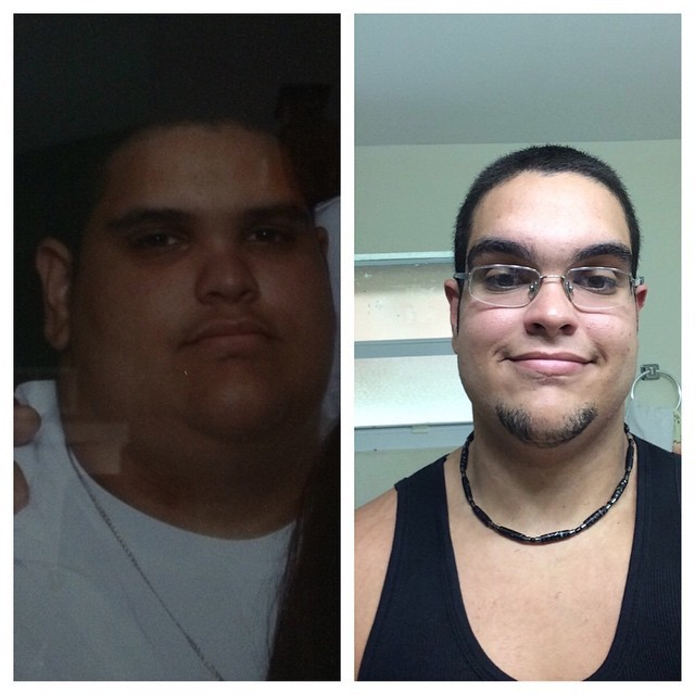 6'1 Male Before and After 50 lbs Weight Loss 296 lbs to 246 lbs