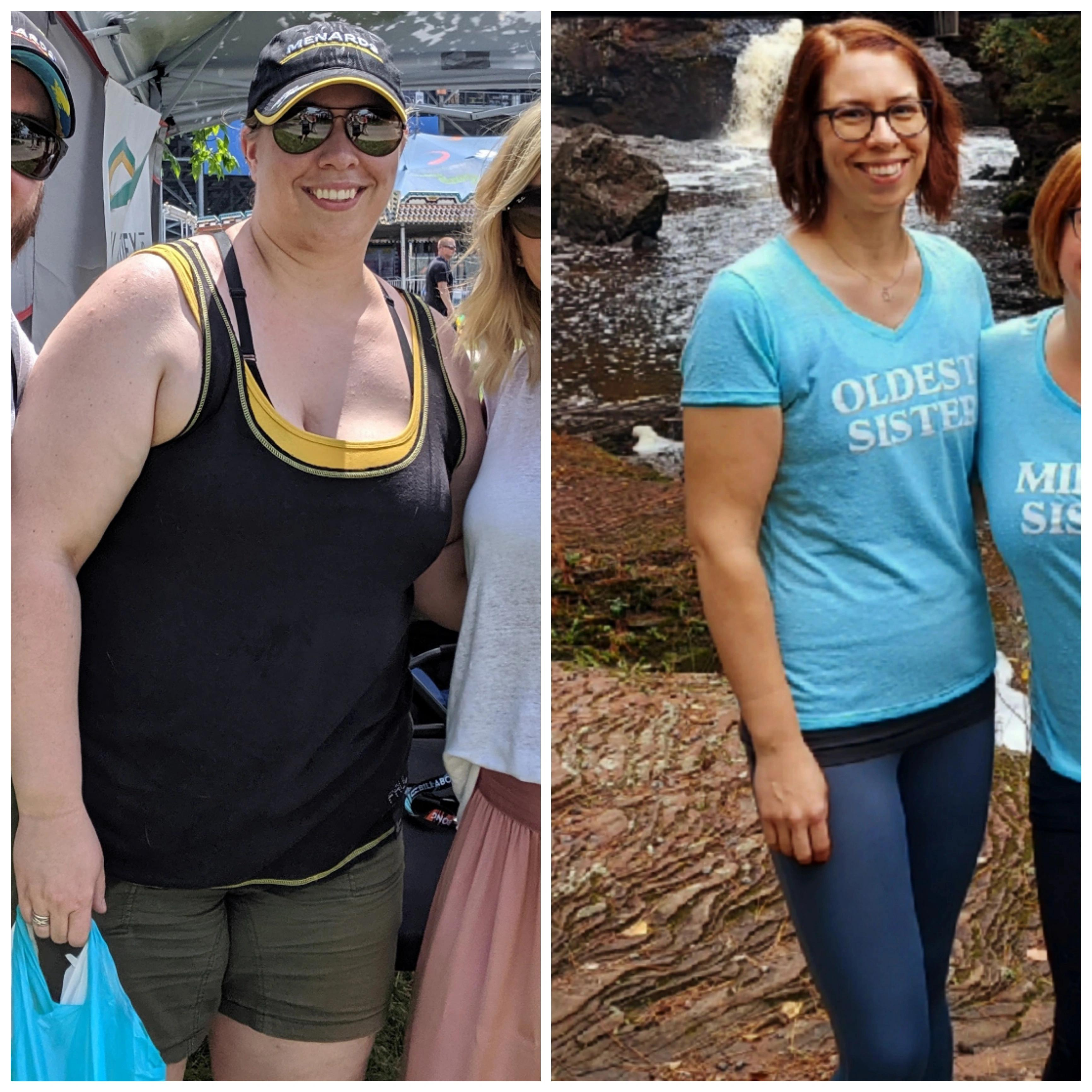 5 foot 9 Female 120 lbs Weight Loss 275 lbs to 155 lbs