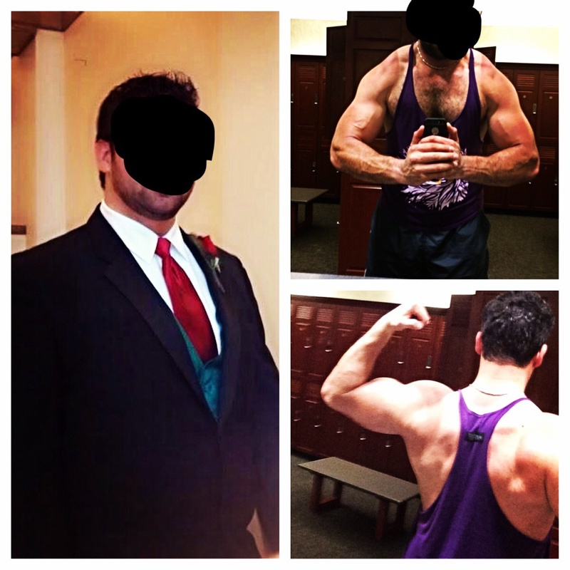 72 lbs Fat Loss Before and After 6 foot 6 Male 348 lbs to 276 lbs