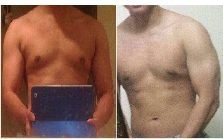 5 lbs Weight Loss 5 foot 9 Male 150 lbs to 145 lbs