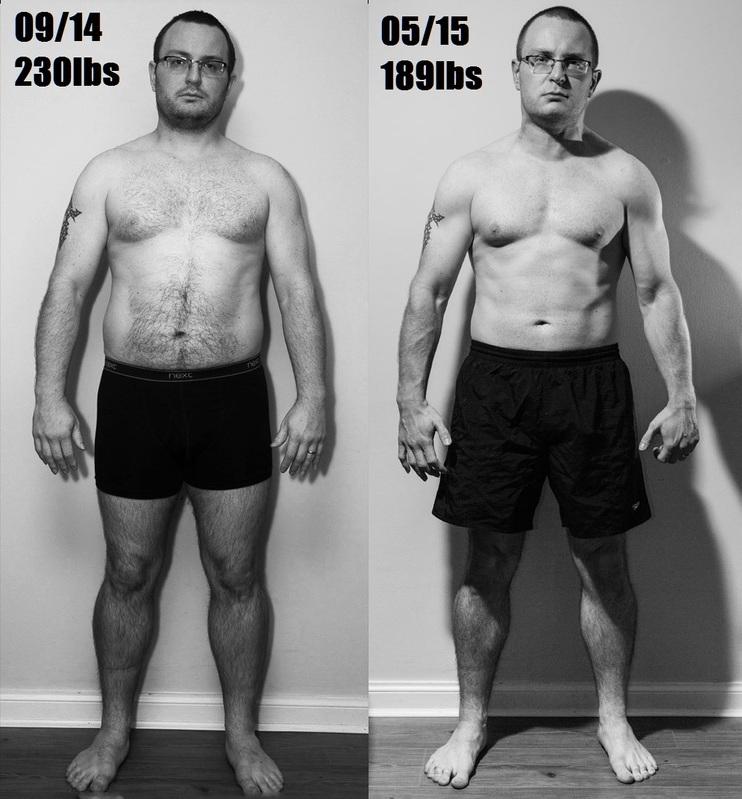 Progress Pics of 41 lbs Weight Loss 5 feet 10 Male 230 lbs to 189 lbs