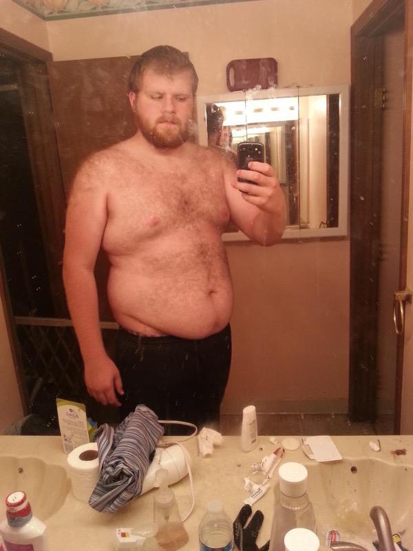 6 foot 5 Male Progress Pics of 25 lbs Weight Loss 355 lbs to 330 lbs