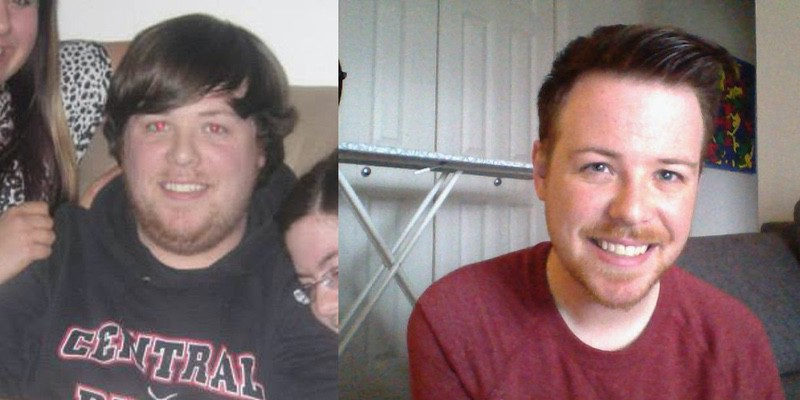 6 feet 4 Male Before and After 88 lbs Weight Loss 330 lbs to 242 lbs