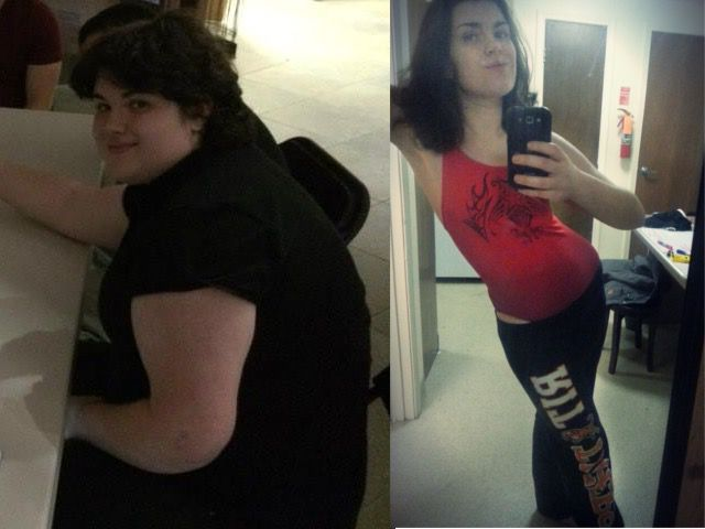 112 lbs Fat Loss Before and After 5 feet 9 Female 270 lbs to 158 lbs