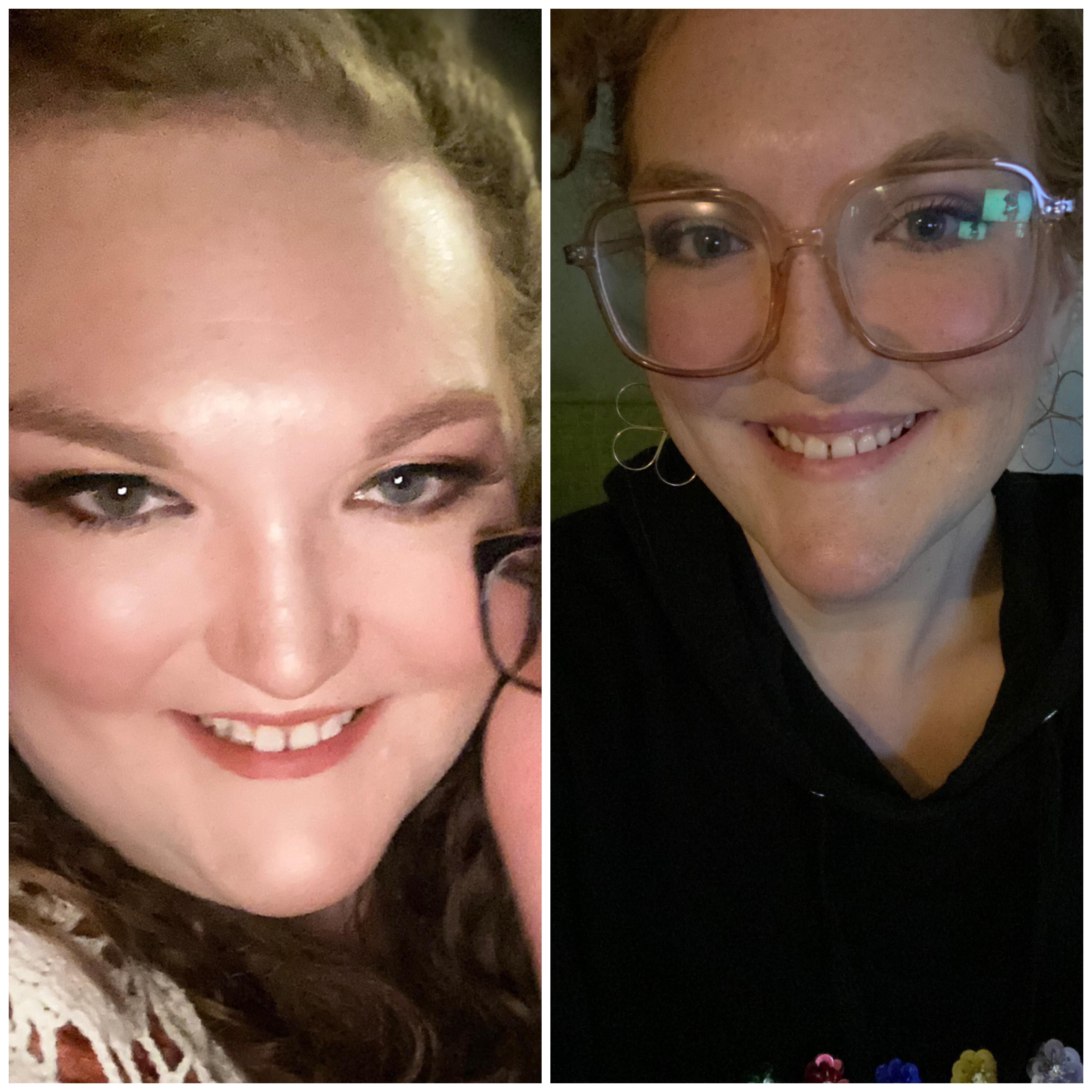 5 feet 8 Female 108 lbs Fat Loss Before and After 375 lbs to 267 lbs
