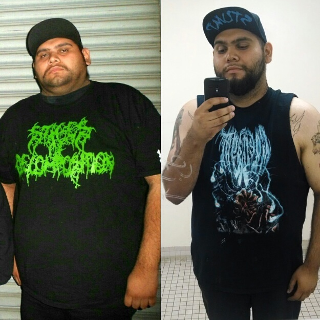 6 feet 2 Male Before and After 68 lbs Fat Loss 345 lbs to 277 lbs