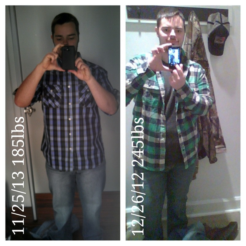 60 lbs Weight Loss Before and After 5'8 Male 245 lbs to 185 lbs