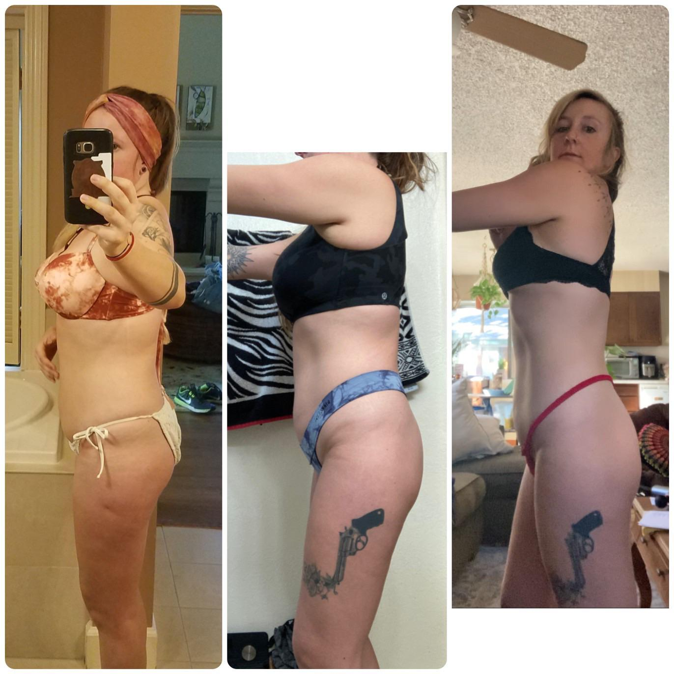5 foot 6 Female 17 lbs Weight Loss Before and After 175 lbs to 158 lbs