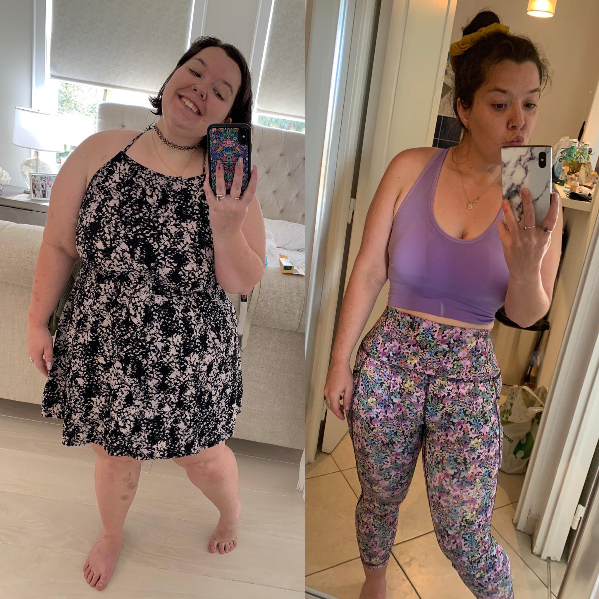 Progress Pics of 96 lbs Weight Loss 5 foot Female 226 lbs to 130 lbs