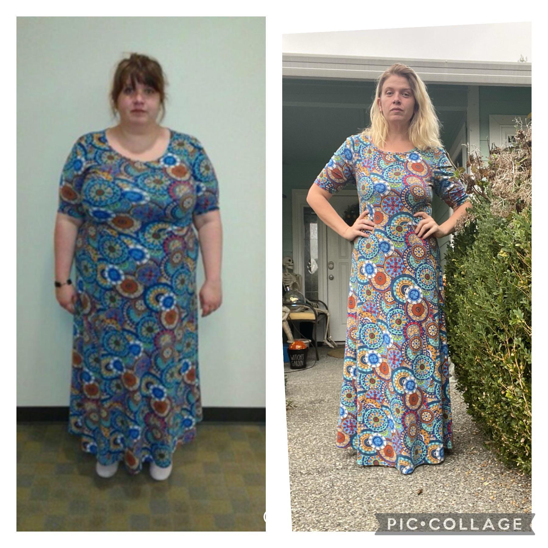 5'7 Female 134 lbs Fat Loss 298 lbs to 164 lbs