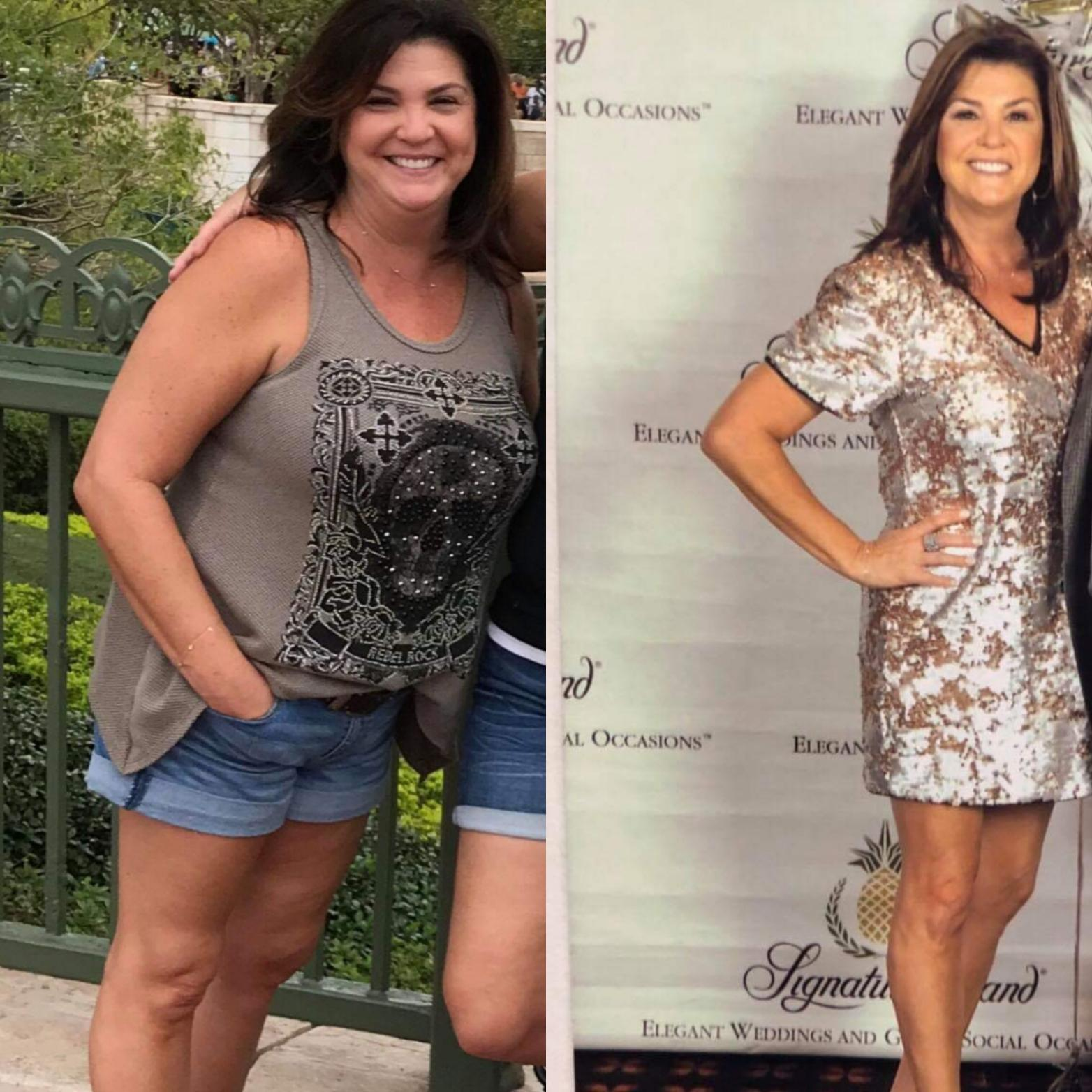 37 lbs Fat Loss Before and After 5'3 Female 167 lbs to 130 lbs