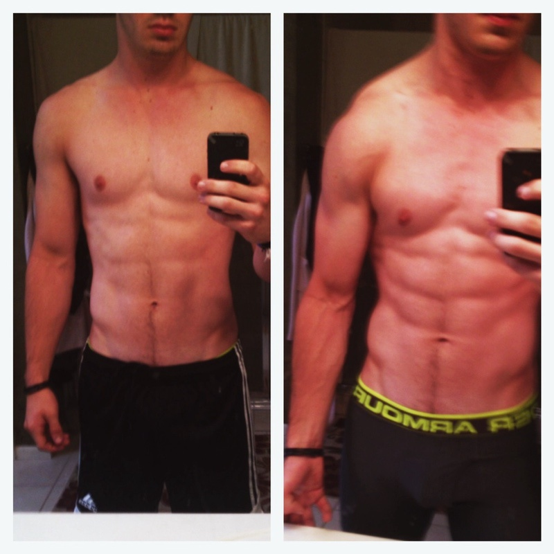 15 lbs Weight Gain Before and After 5 foot 10 Male 160 lbs to 175 lbs