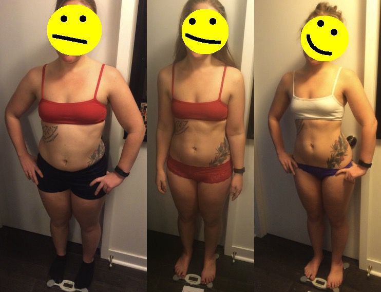 5 foot 3 Female Before and After 10 lbs Weight Loss 152 lbs to 142 lbs