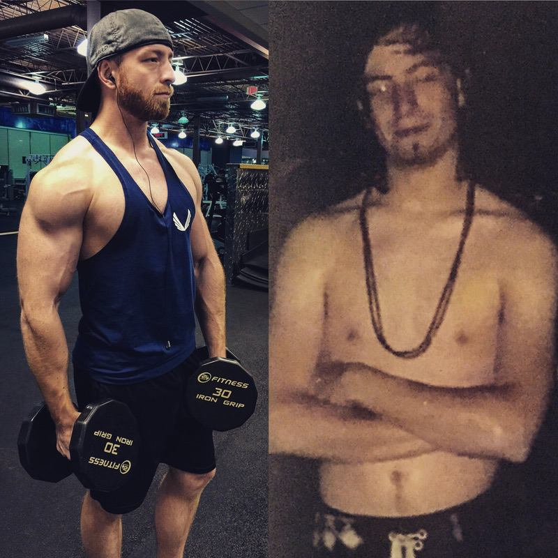 5 feet 10 Male 50 lbs Muscle Gain Before and After 135 lbs to 185 lbs
