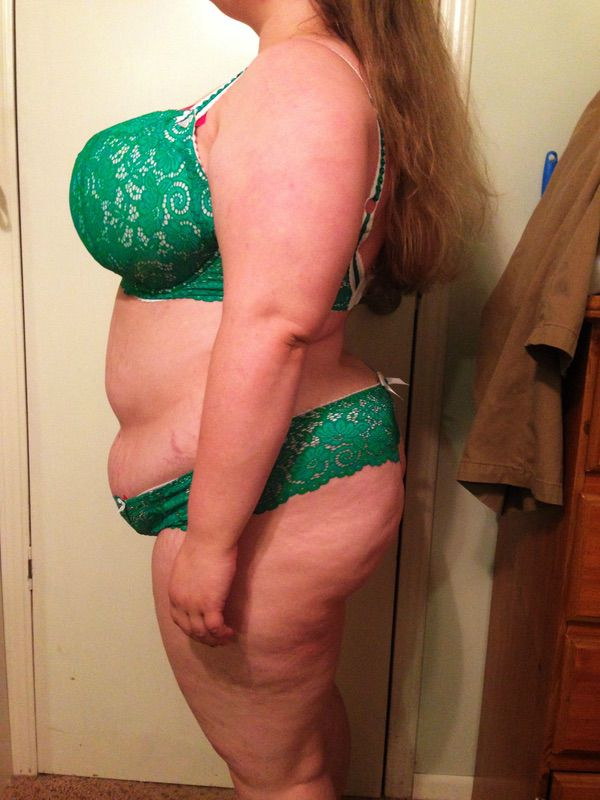 34 lbs Fat Loss Before and After 5'1 Female 237 lbs to 203 lbs