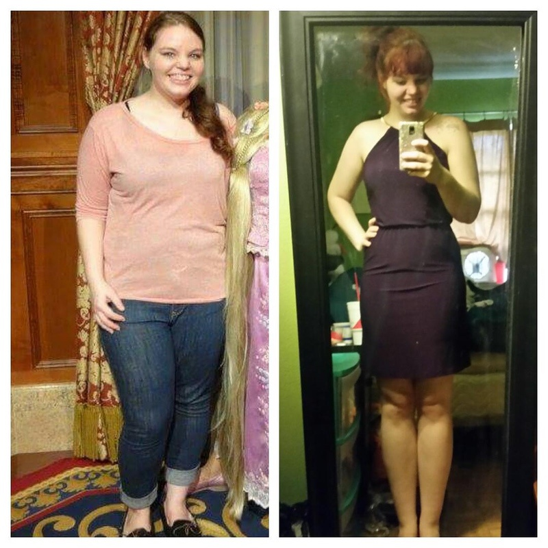 5'6 Female Before and After 70 lbs Weight Loss 250 lbs to 180 lbs