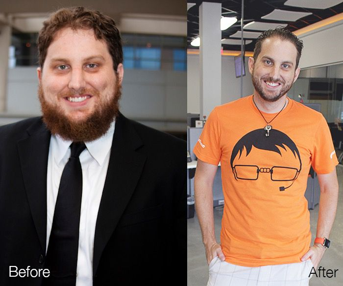 Before and After 124 lbs Weight Loss 6'1 Male 274 lbs to 150 lbs
