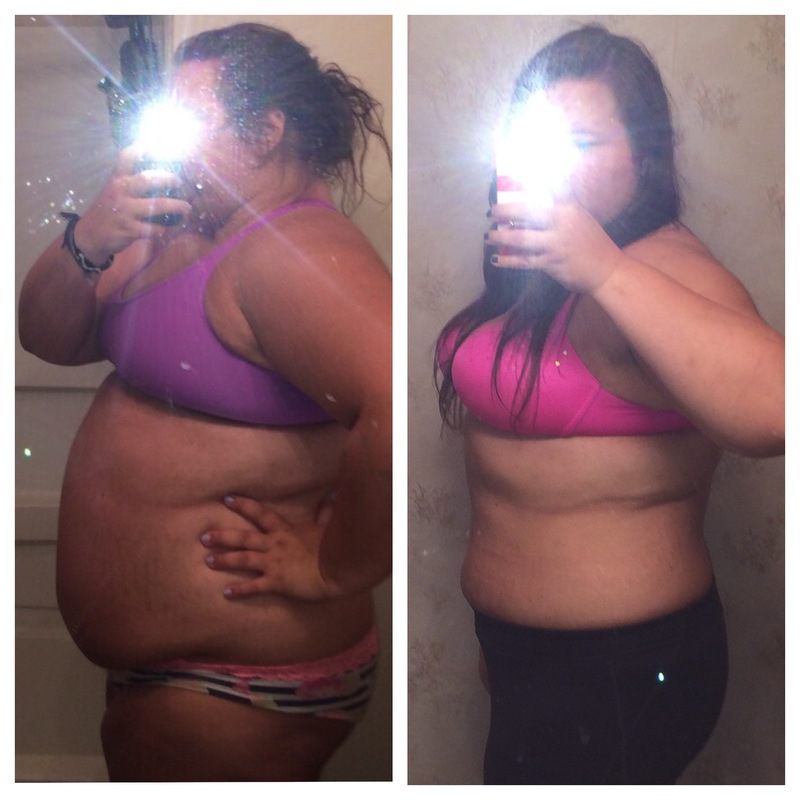 53 lbs Fat Loss Before and After 5 foot 8 Female 298 lbs to 245 lbs