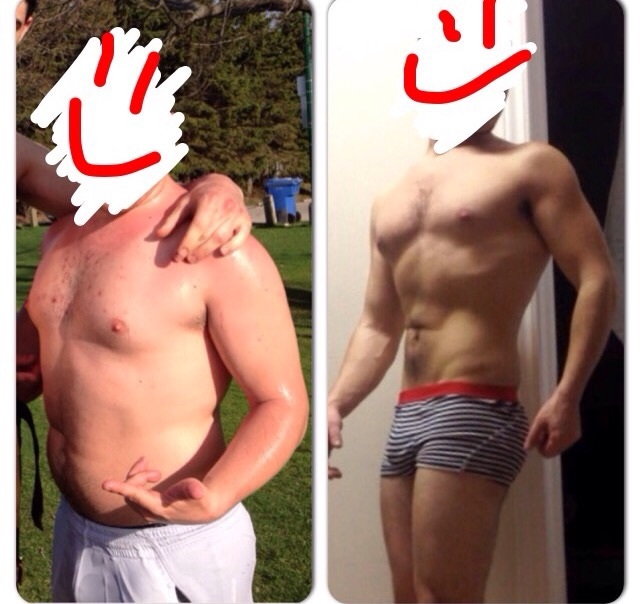 5 foot 4 Male 45 lbs Fat Loss Before and After 190 lbs to 145 lbs