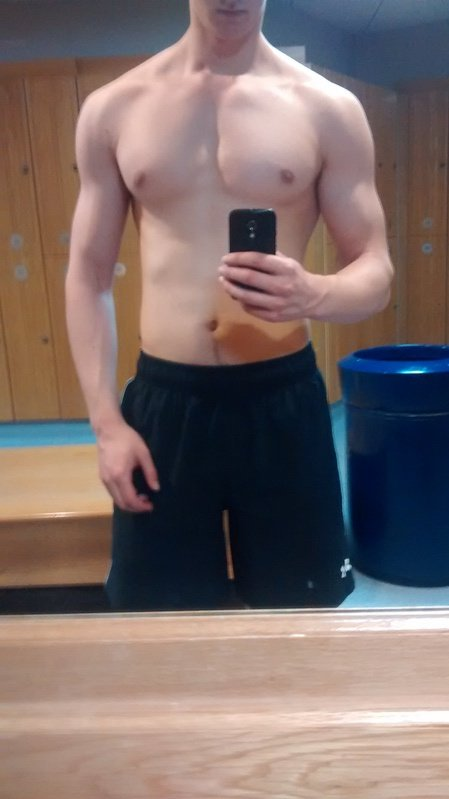 6'3 Male 37 lbs Muscle Gain Before and After 143 lbs to 180 lbs