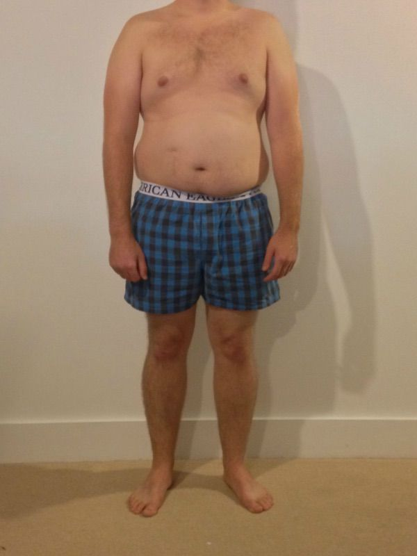4 Pics of a 210 lbs 5 foot 9 Male Weight Snapshot