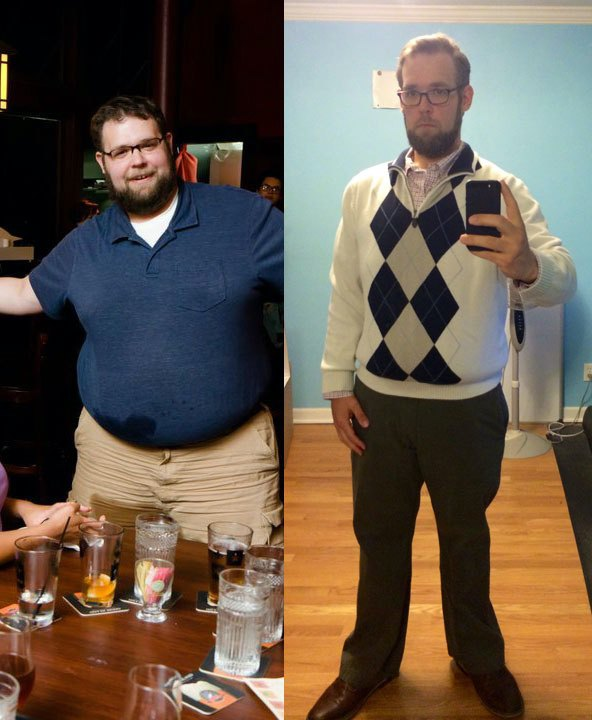 162 lbs Weight Loss Before and After 5 foot 11 Male 376 lbs to 214 lbs