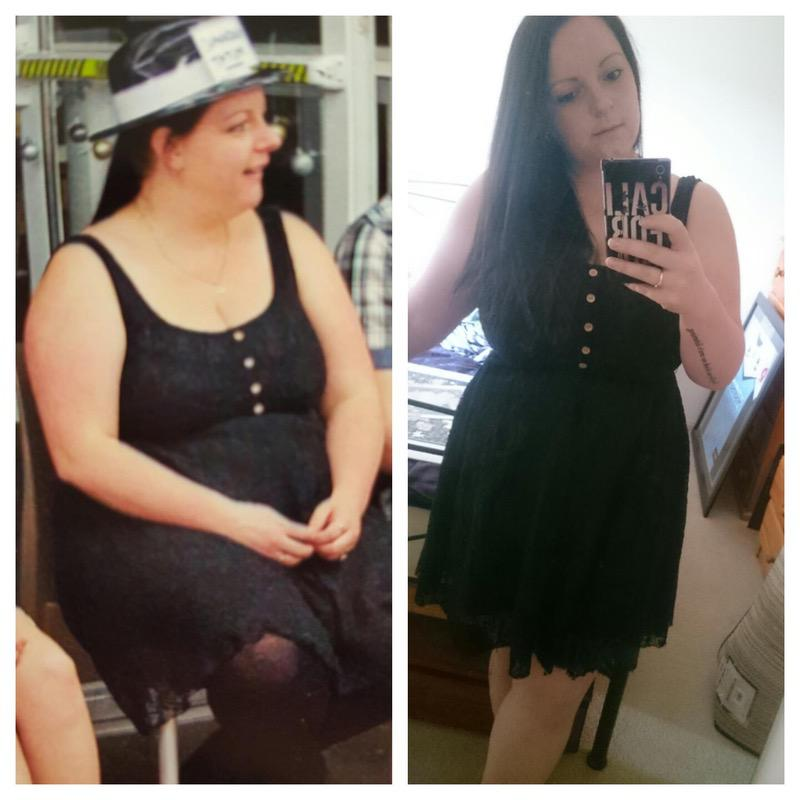 17 lbs Weight Loss Before and After 5 feet 5 Female 204 lbs to 187 lbs