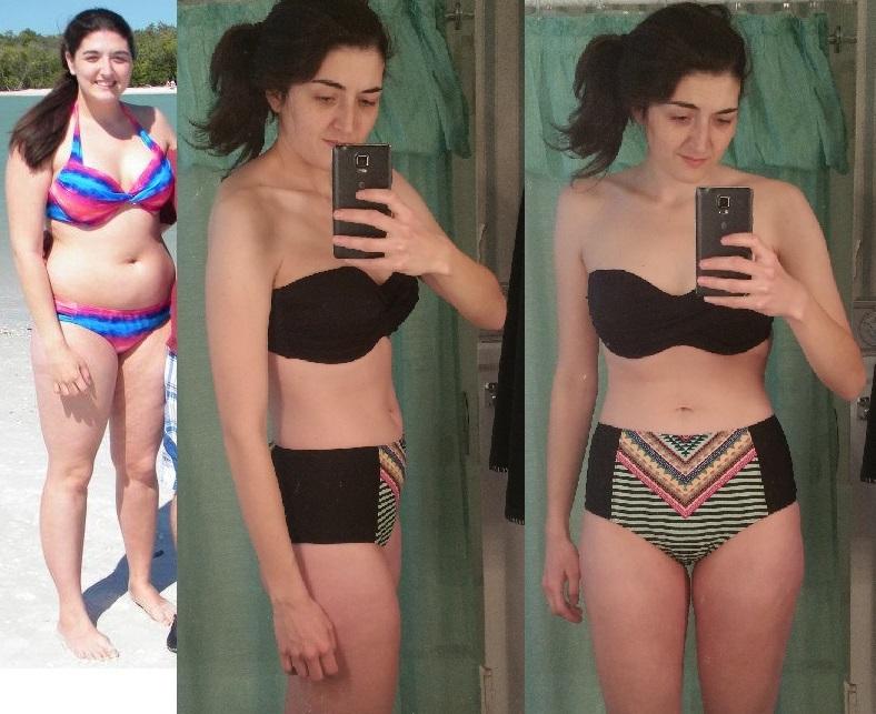 5 foot 10 Female Progress Pics of 95 lbs Fat Loss 245 lbs to 150 lbs
