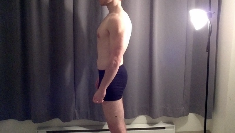 7 Pictures of a 155 lbs 5 feet 7 Male Weight Snapshot