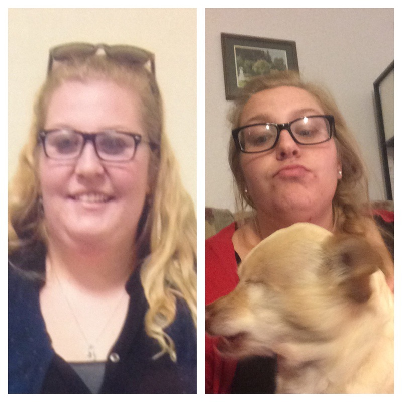 Before and After 106 lbs Weight Loss 5 foot 8 Female 356 lbs to 250 lbs
