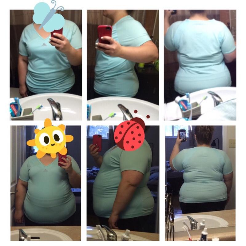 Progress Pics of 38 lbs Fat Loss 5 foot Female 253 lbs to 215 lbs