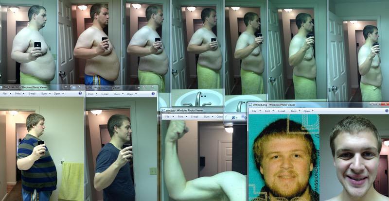 6 feet 2 Male Progress Pics of 123 lbs Fat Loss 369 lbs to 246 lbs