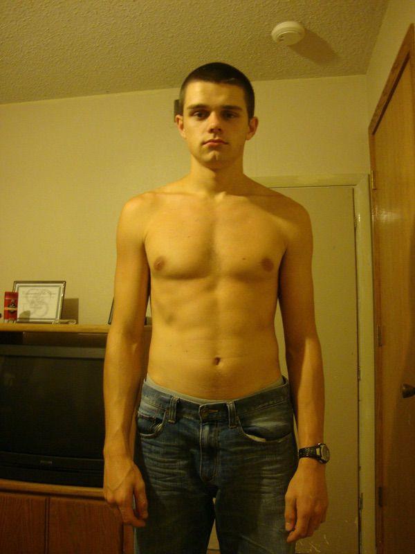 Progress Pics of 70 lbs Muscle Gain 6 foot Male 135 lbs to 205 lbs
