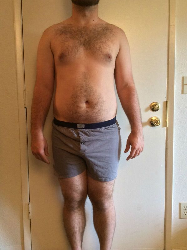 4 Pictures of a 228 lbs 5'11 Male Weight Snapshot